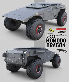 A long range combat scout vehicle. A heavy protected stealth personnel carrier. An all terrain wheeled machine.And of course, it does come in. Army Vehicles, Armored Vehicles, 4x4 Wheels, Offroader, Terrain Vehicle, Komodo Dragon, Buggy, Jeep Wrangler, Concept Cars