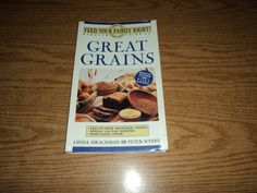 Feed Your Family Right Great Grains by Linda Drachman 1991 Paperback