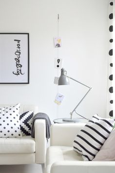 Dots, stripes, and it's all in black and white?  LOVE.