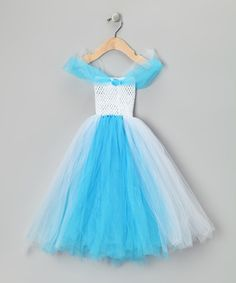 Halloween--Take a look at this White & Blue Cinderella Dress - Infant, Toddler & Girls by All the Little Things on today! Cinderella Party, Cinderella Dresses, Dress Up Boxes, Kids Dress Up, Cute Girl Outfits, Little Girl Fashion, Infant Toddler, Toddler Girls, Dress Making