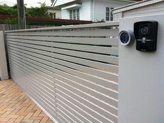 Video intercom system with keypad security and sliding aluminium gate