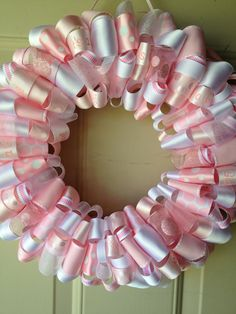 It's A Girl Ribbon Wreath!