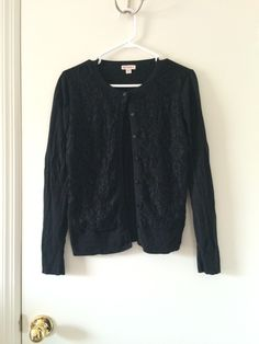 Own - black cardigan lace front
