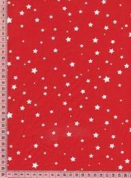Poussière d' étoiles blanches sur rouge 50cm