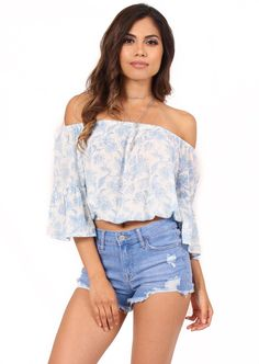 bda175d493f46c Paisley Off The Shoulder Top