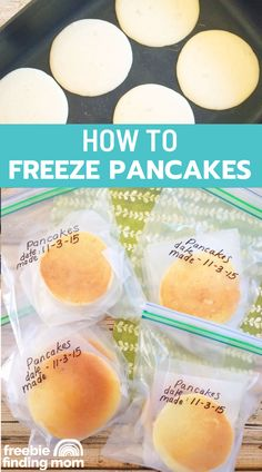 Do you want to know how to freeze pancakes? First start with a delicious and easy pancake recipe from scratch which you get here then follow these few steps to make them freezer friendly. That's it! Using this homemade pancake recipe will save you so much time on busy weekday mornings. Simply make a large batch or two on the weekend to freeze then take them out and reheat them for breakfast during the week. Enjoy! #pancakerecipeeasy #pancakesfromscratch #pancakemixrecipe…