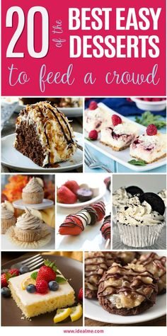 Check out our list of 20 of the best easy desserts to feed a crowd. Be prepared for empty dishes and a round of applause when you bring one of these recipes to your next event.