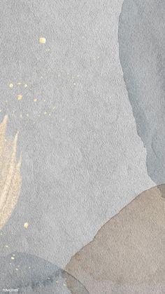 Gold splatter on watercolor background mobile phone wallpaper illustration
