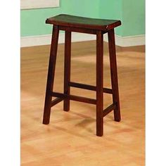 These 29-inch distressed walnut barstools are perfect for all types of game rooms and dining rooms. With their comfortable saddle seat, and well positioned footrest, these pieces are sure to be the st
