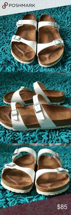 3737a0de49ef White Birkenstock sandles Two strap white Birkenstock sandles. These  sandles are in excellent pre-