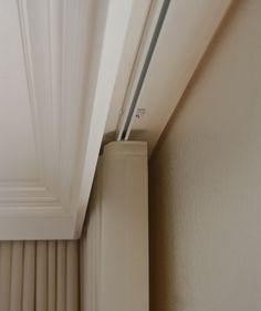 Image result for hide ceiling track trim moulding