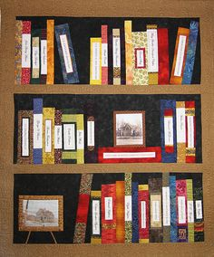 Book Quilt - I find enough I think I should be able to get Mom to make one.