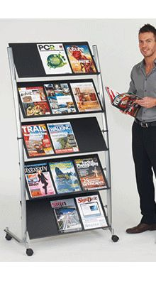 Literature/Brochure Shelves and Shelving - 15 x Brochure Stand - Floorstanding Brochure Stand, Brochure Holders, Booklet, Shelving, Literature, Simple, A4, Display, Pockets