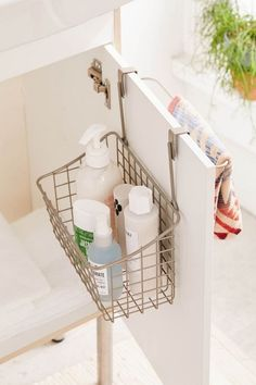 Shop Grid Over-The-Cabinet Basket at Urban Outfitters today. Cute Dorm Rooms, Cool Rooms, Home Renovation, Home Decor Bedroom, Diy Home Decor, Modern Bedroom, Bedroom Ideas, Contemporary Bedroom, Master Bedroom
