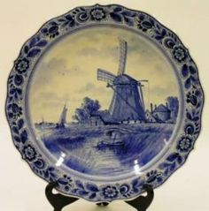 delft pottery | The Collector's Minute: Dutch Delft Pottery Charger by Mike Wilcox ...
