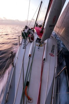 January 25, 2015. Day 22 of Leg 3 to Sanya, onboard Dongfeng Race Team. We did serious then I said make a funny face. - Sam Greenfield/Dongfeng Race Team/Volvo Ocean Race