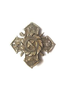 Antique Military Badge Historical Maltese Cross by BetterWythAge