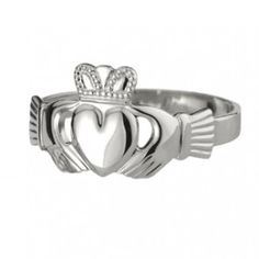 Solvar Sterling Silver Puffed Heart Mens Ring