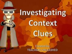Investigating Context Clues - PowerPoint Lesson and Test Prep