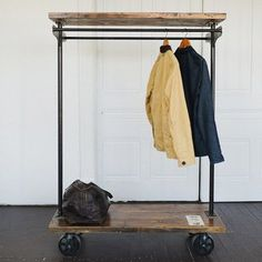 Reclaimed wood garment rack by Brackish - Brackish - Brackish, Built for Frequent Use My Home Design, House Design, Garment Racks, Style Deco, Home Tv, Closet Space, Modern Kitchen Design, My New Room, Retail Design