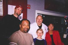 Chef Jim and his son with the WMJI 105.7 morning crew!