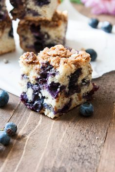 It's blueberry season! Blueberry Crumb Cake is packed full of blueberries with a hint of fresh lemon. Moist and dreamy!