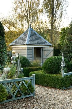 Charming potting shed.