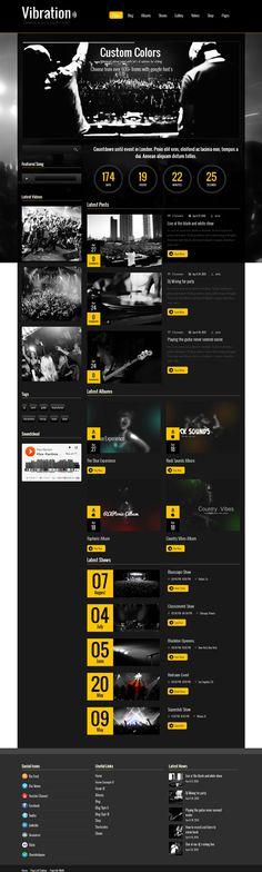 Vibration, WordPress Dark Music & Events Theme
