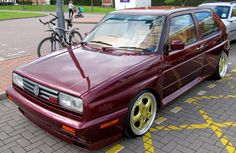 VW Golf rally spec car