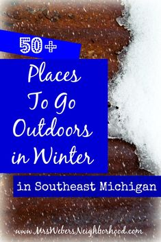 50+ Places To Go Outdoors in Winter in Southeast Michigan {skiing, sledding, ice skating and more around Ann Arbor, Detroit, Flint and Lansing}