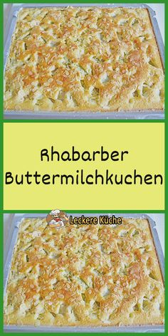 Rhabarber Buttermilchkuchen - The world's most private search engine Easy Cake Recipes, Cookie Recipes, Food And Drink, Healthy Eating, Nom Nom, Sweets, Bread, Snacks, Baking