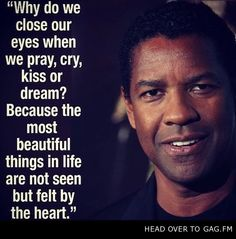 A Beautiful Quote By Denzel Washington