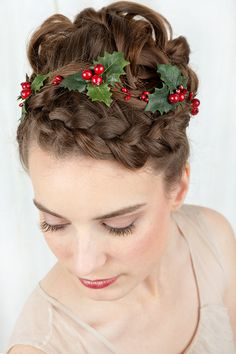 holly headband christmas headband adult christmas by thehoneycomb