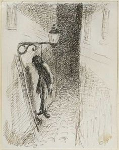 Camille Pissarro (1830-1903), The Hanged Millionaire, from Les Turpitudes sociales, 1889-90, Pen and brown ink over graphite drawings on paper pasted in an album, sheet: 31 x 24 cm. Collection of Jean Bonna, Geneva.