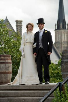 Mr. and Mrs. William Murdoch- Murdoch Mysteries (known as Artful Detective on U.S. tv) Photo by Christos Kalohoridis; Copyright-Shaftesbury