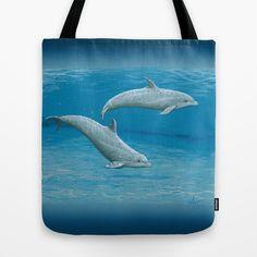 """Sandscape"" Acrylic Bottlenose Dolphin Painting by Wildlife Artist Amber Marine"