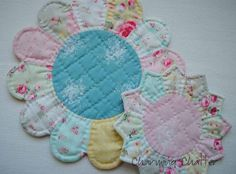 Charming Chatter: Pretty Little Trivets & Hot Pads Tutorial (Dresden Plate & Petal Plate)