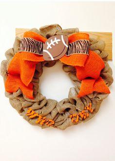 """Cincinnati Bengals """"Who Dey"""" Burlap Wreath on Etsy, $45.00"""
