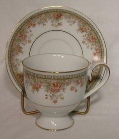 Noritake China Morning Jewel Pattern 2767 Cup Saucer Set   eBay