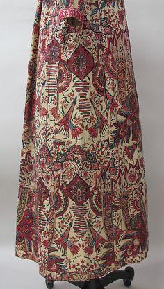Coat (Wentke) Date: 1720–40 Culture: Netherlands Medium: cotton, linen Dimensions: Length at CB: 52 3/8 in. (133 cm) Credit Line: Isabel Shu...