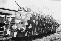 WWII - GERMAN ARMORED TRAIN - 1942