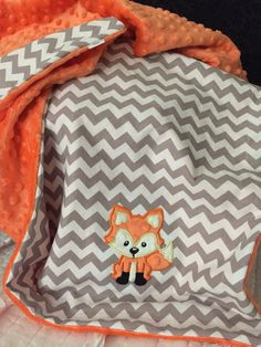 Fox Baby Blanket Fox Blanket Woodland Baby by OurAdorableBaby