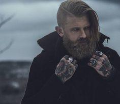 Josh Mario John - thick blonde beard beards bearded man men mens' style fall winter fashion clothing tattoos tattooed bearding #beardsforever