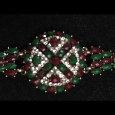 NWOT Turkish  bracelet antique color with stones NWOT Turkish  bracelet antique color with ruby and emerald stones . Jewelry Bracelets