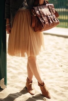 Tulle skirt + boots