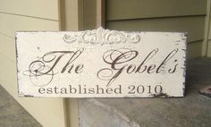 Hey, I found this really awesome Etsy listing at https://www.etsy.com/listing/62935066/custom-vintage-wedding-sign-with