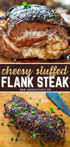 Flank Steak Rolls, Steak In Oven, Flank Steak Recipes, Stuffed Flank Steak, Beef Flank, Seafood Recipes, Beef Recipes, Cooking Recipes, Recipes