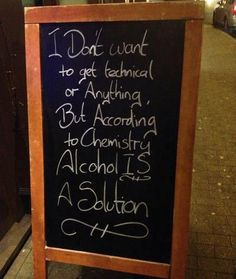 According to Chemistry... alcohol is ...