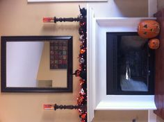 Our Family Room Halloween Mantel