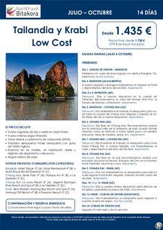 ¡Oferta Julio - Octubre! TAILANDIA y Krabi Low Cost: 14 días, desde 1.435 € + tasas - http://zocotours.com/oferta-julio-octubre-tailandia-y-krabi-low-cost-14-dias-desde-1-435-e-tasas/